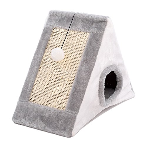 BMM-Cages Pet House Cat Climbing Frame Sisal Hole Cat Nest One Cat Scratchboard Pet Grinding Claw Table Shelf Cat Toy (Size : S)