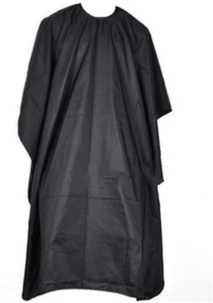 ISKYBOB Capa De Peluquería Barbería Unisex Negro Para Salón De Belleza Corte Tinte