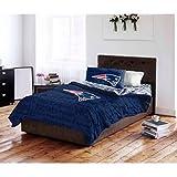 5 Piece NFL New England Patriots Comforter Full Set, Sports Patterned Bedding, Featuring Team Logo, Fan Merchandise, Team Spirit, Football Themed, National Football League, Blue, Red, Unisex