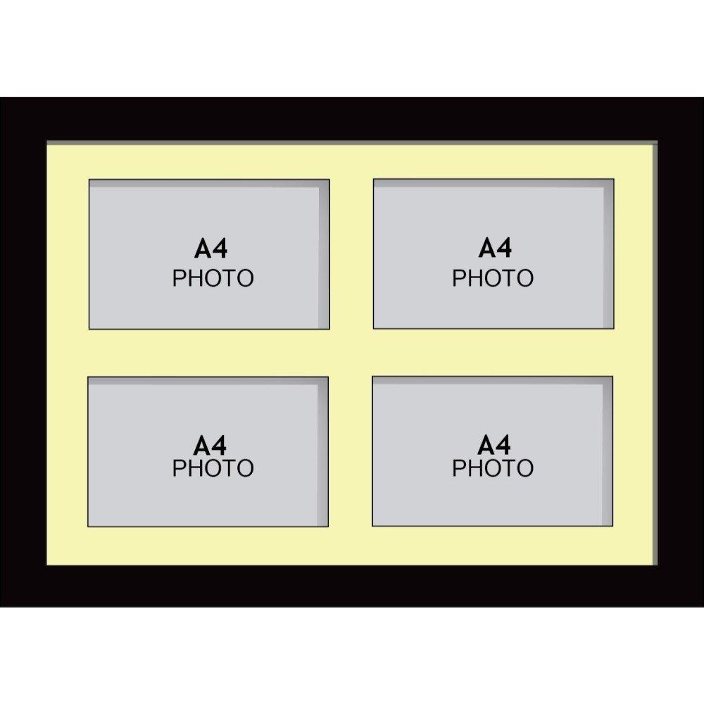 Amazon.de: Große Multi Bilderrahmen Blende Rahmen, Größe A4 mit 4 ...