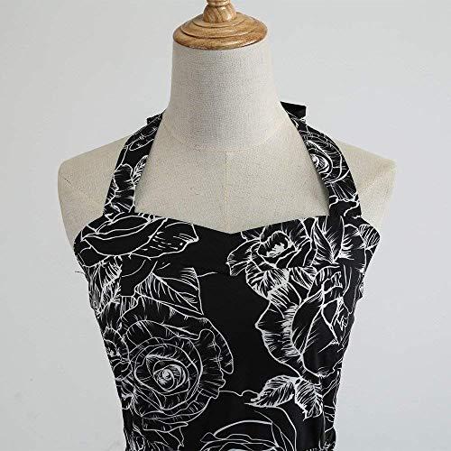 Estampado Vintage Small Con color De Vestidos 3 White4 Mangas Hhgold Tamaño Sexy Mujer Sin Vestido Negro Lunares HTxvwq48