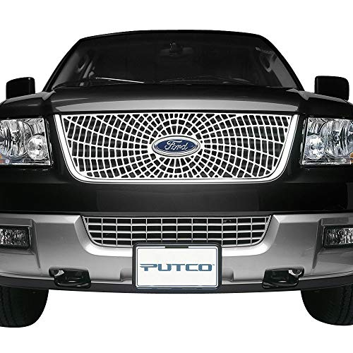 Putco 303104 Liquid Spider Honeycomb Web Grille for Select Ford Models