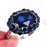 Fashion Jewelry wedding 925 silver Sapphire ring (7)