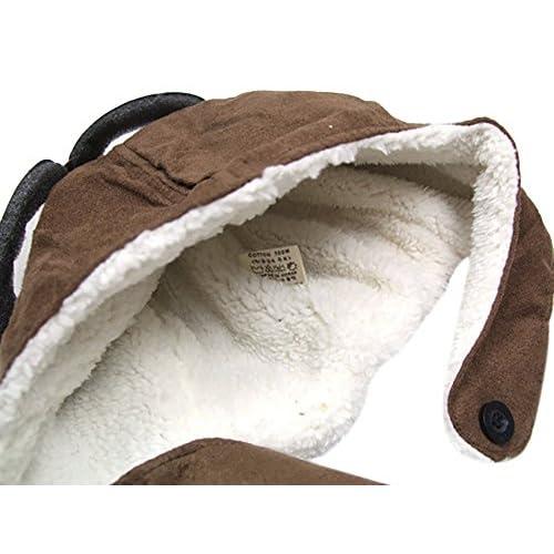 Hosaire Pilotos Gorras Sombreros Capucha Niños Niñas Bebés de Algodón para  Invierno ... b4afb62781b
