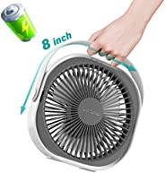 LaHuko Desk Fan Ultra Silent USB Fan Rechargeable Personal Fan Portable Fan 360° Adjustable 3 Modes Lightweigh