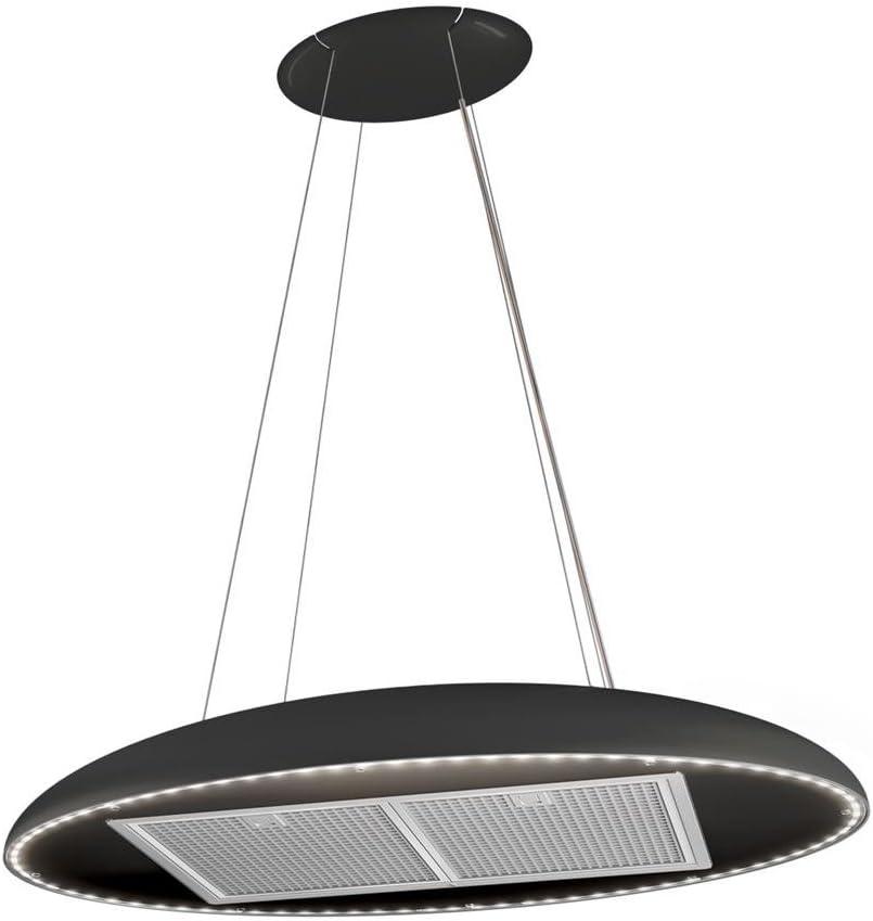 Campana Cocina Airforce de techo negra Eclipse diámetro 90 cm: Amazon.es: Grandes electrodomésticos