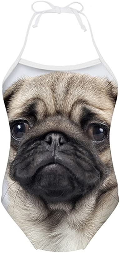 age 5-6 years Girls Pug Swimming Swim Costume