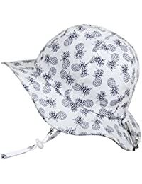 Boys 50+UPF Breathable Cotton Sun-Hat with Adjustable Chin-Strap for Baby, Toddler