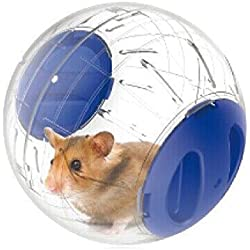 Wildgirl Pet Dwarf Hamster Small Toy Mini Run-about Exercise Ball (S, Blue)