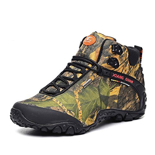 Trekking Up Transpirable de Camo Guan Mujer alta Mujeres Sport xiang Trail Senderismo Camuflaje Top Lace botas Outdoor Malla 7q1ZwRf