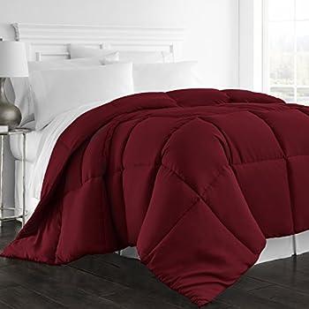 Beckham Hotel Collection 1300 Series - All Season - Luxury Goose Down Alternative Comforter - Hypoallergenic - Queen/Full - Burgundy