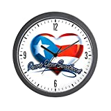 Wall Clock Puerto Rican Sweetheart Rico Flag