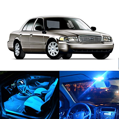 Interior Crown Victoria - cciyu LED Bulb LED Interior Lights 13pcs Ice Blue Package Kit Accessories Replacement Replacement fit for 1998-2010 Replacement fit ford Crown Victoria