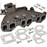 Cast Iron Turbo Exhaust Manifold With 38Mm Wastegate T3 T3/T4 For Vw Vr6 12V