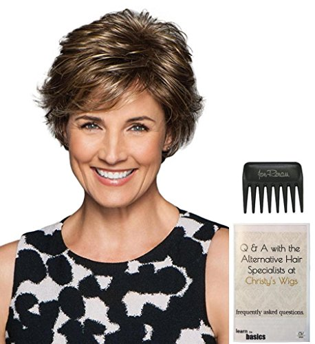 Perk Petite Cap Wig by Gabor, 15 Page Christy's Wigs Q & A Booklet & Wide Tooth Comb COLOR SELECTED: G11+ by Gabor & Christy's Wigs