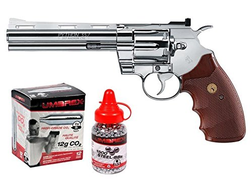 Colt Python CO2 Revolver Kit, Chrome air pistol