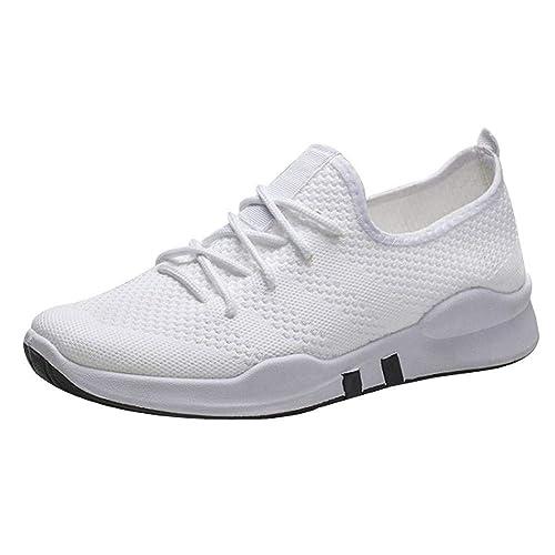Cinnamou Zapatos de Cordones Mujer Zapatillas de Deportiva Sneakers para Caminar Walking Calzado Malla Transpirables Loafer Ligeros Mocasines Verano: ...