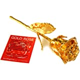 Gold Rose Birthday Anniversary Gift for Wife Girlfriend Husband Boyfriend