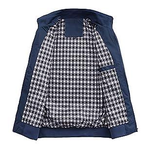 MyMei Men's Casual Jacket Stand Collar Zipper Design Regular Coat Outerwear