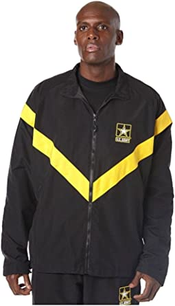 US Army APFU Female Physical Fitness Uniform Jacket Black /& Gold Small Regular