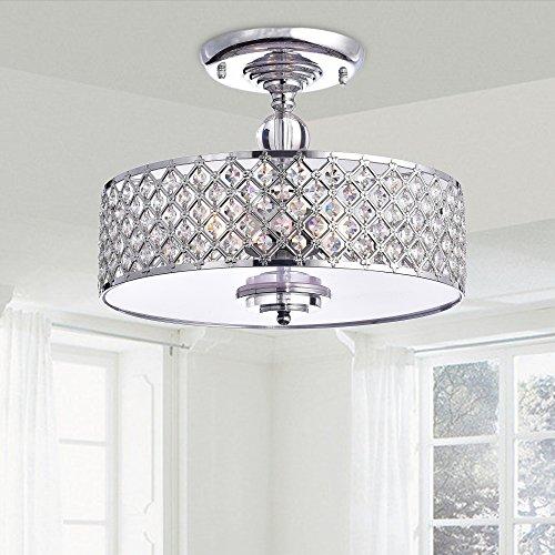 Martina Chrome Finish Crystal 3-light Flush Mount Chandelier (Pottery Barn Flush Mount Light)