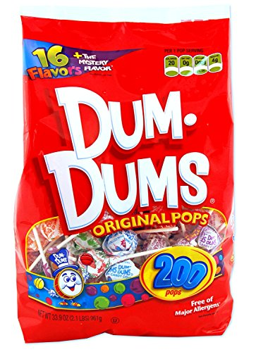 - DUM DUMS Lollipops, Variety Flavor Mix, 200 Count Bag