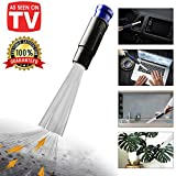 Dust Daddy Universal Cleaner Vacuum Attachment, Dusty Brush, Cleaning Sweeper, Flexible Long Tube Remover-Perfect for Air Vents, Keyboards, Drawers, Car, Tools, Crafts, Jewelry, Plants