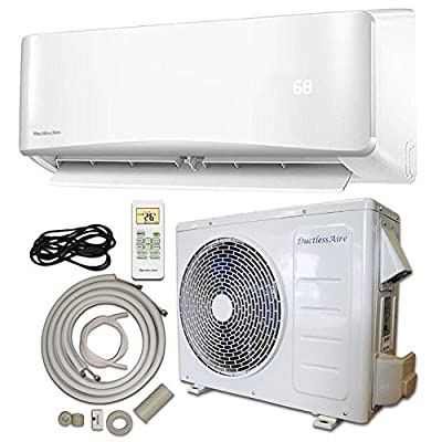 DuctlessAire Energy Star Ductless Mini Split Air Conditioner and Heat Pump Variable Speed Inverter 220V, 25ft Installation Kit