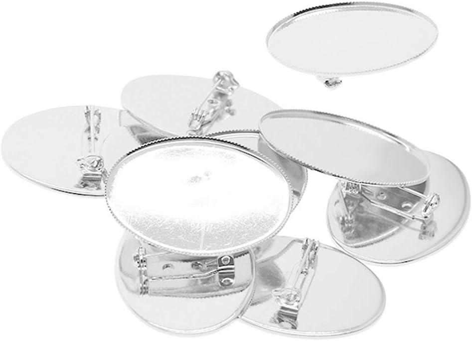 10pcs Broche de Seguridad Piedras Pequeñas, Cristales, Diamantes, Piedras Preciosas, Cabujones de Vidrio, Etc - Platino