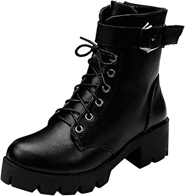 Combat Boots, Fheaven Fashion Lace