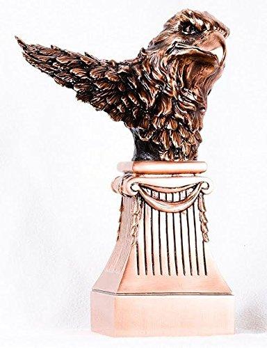 stealstreet c512a Busto de águila de cobre en Grecian Pilar Estatua