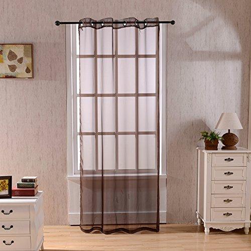 SINOGEM Brown Sheer Window Curtain Window Treatment Thermal Panels American Decorative (53