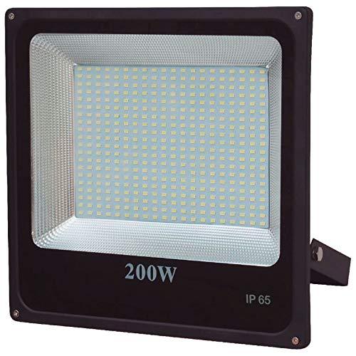 Refletor Deep LED 6500K Luz Branca Ip65 LLUM Bronzearte Deep Led 200W Preto