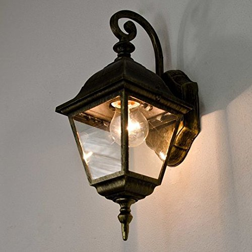rustic lyon antique outside hanging wall light e27 fitting wall