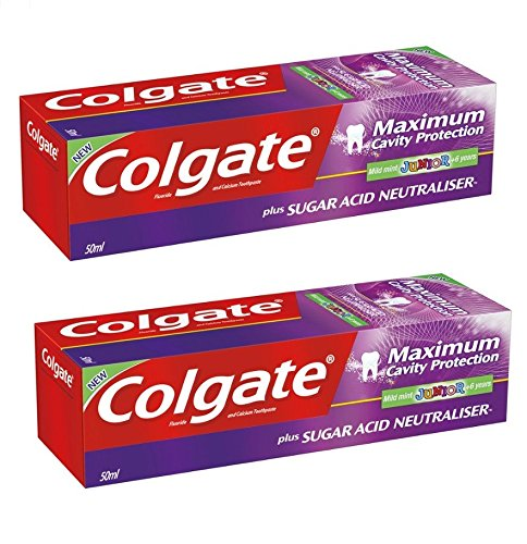 Colgate Maximum Cavity Protection Plus Sugar Acid Neutraliser Mild Mint Junior 6+ Toothpaste 2 x 50 ml ()