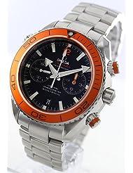Omega Planet Ocean Chronograph Automatic Orange Bezel Mens Watch