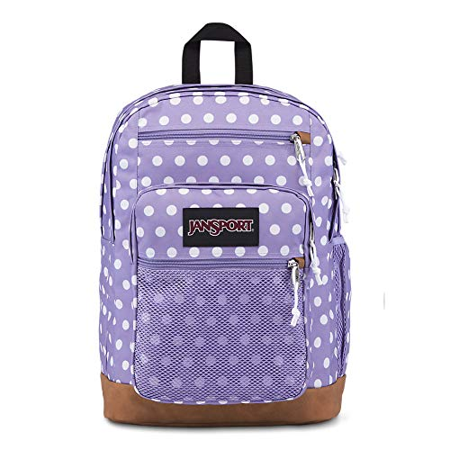 Jansport Girls Backpack - JanSport Huntington Backpack - Lightweight Laptop Bag | Purple Dawn Polka Dot