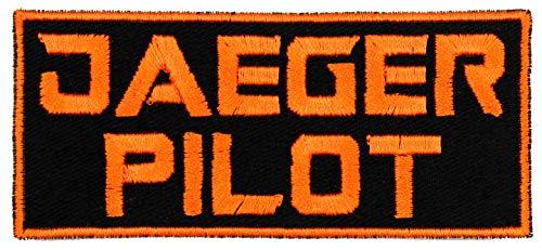 Jaeger Pilot Mecha Robot Patch Iron On Applique - Orange, Black - 4