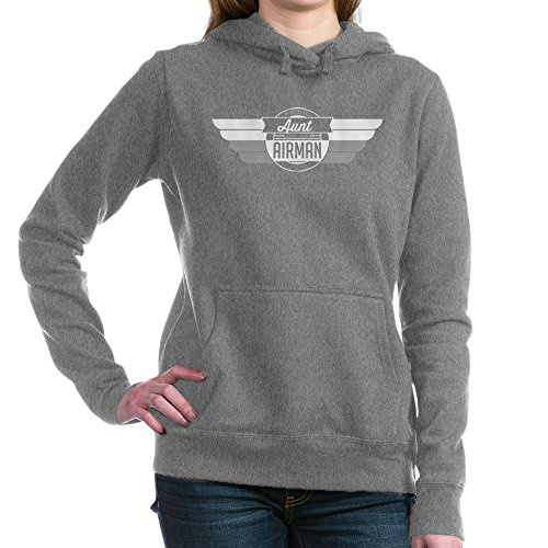 CafePress - Proud Aunt of an Airman - Pullover Hoodie, Classic & Comfortable Hooded Sweatshirt Charcoal Heather