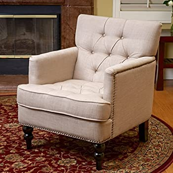 Medford Beige Fabric Club Chair