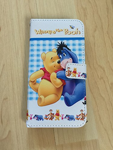 (Winnie The Pooh Flip Stand Pu Leather Case Wallet For iPhone 8 Plus)