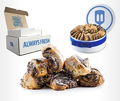 Authentic Chocolate Rugelach Gift| Gimmee Jimmy's Cookies and Gifts | 3 Pounds | Arrives in a Beautiful Gift Tin