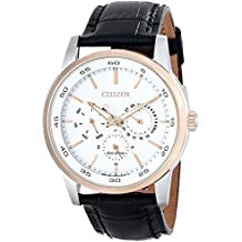 Citizen Eco-Drive Men's BU2016-00A Two-Tone Watch with Black Leather Band