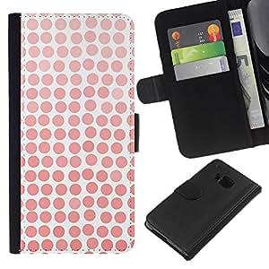 All Phone Most Case / Oferta Especial Cáscara Funda de cuero Monedero Cubierta de proteccion Caso / Wallet Case for HTC One M7 // Pattern Girly White Watercolor