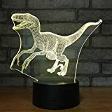 Sleeping Light,3D Night Ligh,Cryolophosaurus Dinosaur Lights Bedroom Decor Kids Christmas Best Gifts 7 Colors Change Best Gifts LED Touch Illusion USB Decor Acrylic Halloween