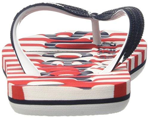 Zehentrenner Eva Superdry red Flop Flip Stripenavyoptic Stripe Multicolore Damen