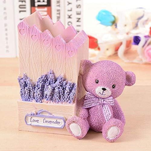 Kreative niedliche Studentenstifthalter Hausform Desktop-Speicherrohr Geburtstagsgeschenk-Pink