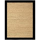 Chesapeake Seagrass 5-foot by 7-foot Area Rug, Black