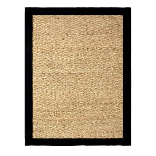 Chesapeake Seagrass 5-foot by 7-foot Area Rug, Black (Grass Sea Rugs)