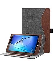 FINTIE Etui kompatybilne z Huawei Mediapad T3 8-calowy tablet - [Wielowarstwowy] Folio stojak pokrowiec ochronny z kieszenią na karty, dżinsowy węgiel drzewny